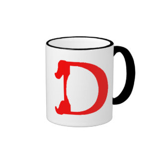 Taza del monograma D