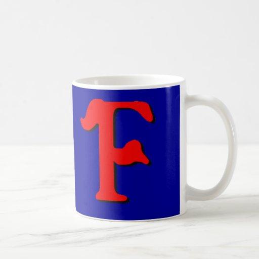Taza del monograma F