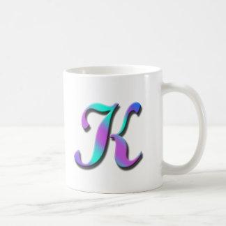 Taza del monograma K
