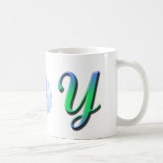 Taza del monograma Y