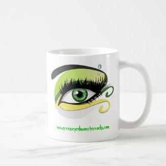 Taza del monstruo de ojos verdes