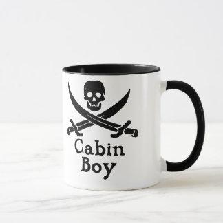Taza del muchacho de cabina