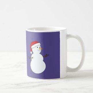 taza del muñeco de nieve