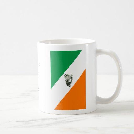 Taza del naranja del verde de la arpa del verde de taza básica blanca
