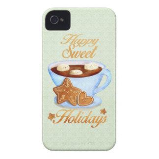Taza del navidad de Choco caliente iPhone 4 Case-Mate Carcasas