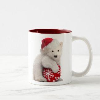 Taza del navidad de Cub del oso polar