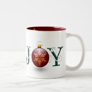 """Taza del navidad de la """"alegría"""""""