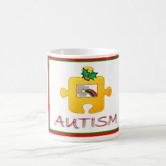 Taza del navidad del autismo