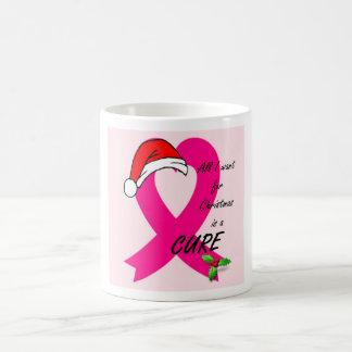 Taza del navidad del cáncer de pecho