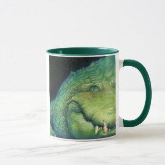 Taza del navidad del cocodrilo