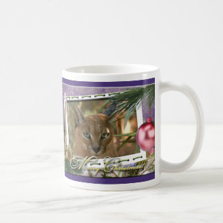 Taza del navidad del lince de Caracal