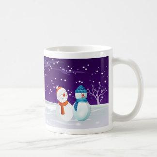 taza del navidad del muñeco de nieve