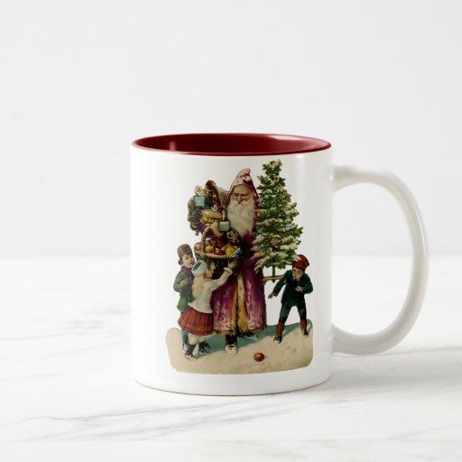 Taza del navidad del padre del vintage