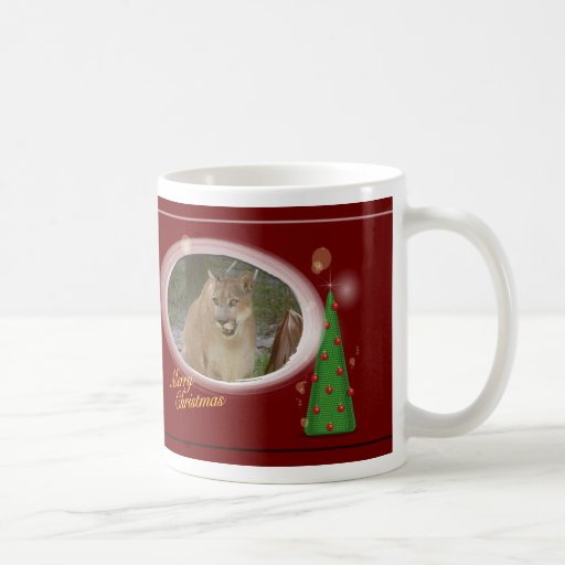 Taza del navidad del puma