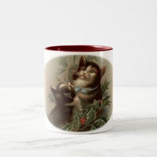 Taza del navidad del vintage