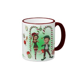 Taza del navidad - duendecillos dulces del navidad
