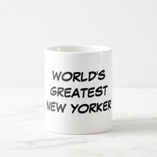 """""""Taza del neoyorquino más grande del mundo"""" Taza Básica Blanca"""
