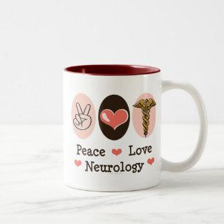 Taza del neurólogo de la neurología del amor de la