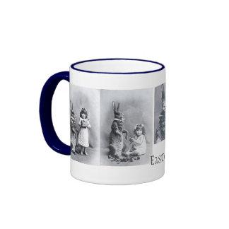 Taza del niño del Victorian del conejito de pascua