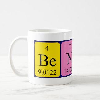 Taza del nombre de la tabla periódica de Benny