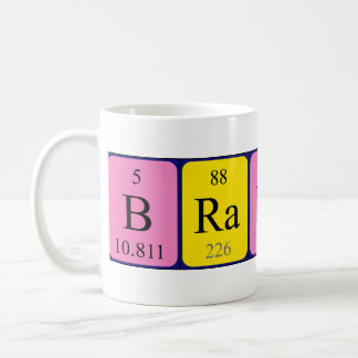 Taza del nombre de la tabla periódica de Brandi