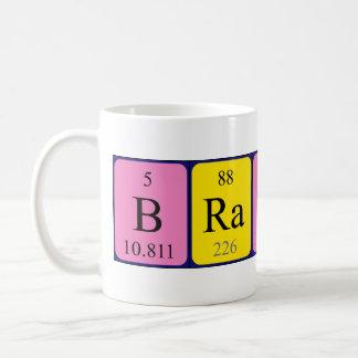 Taza del nombre de la tabla periódica de Brandin