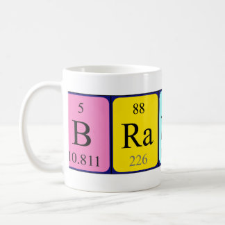 Taza del nombre de la tabla periódica de Brandine