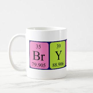 Taza del nombre de la tabla periódica de Bryson