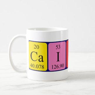 Taza del nombre de la tabla periódica de Caitlin
