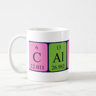 Taza del nombre de la tabla periódica de Calista
