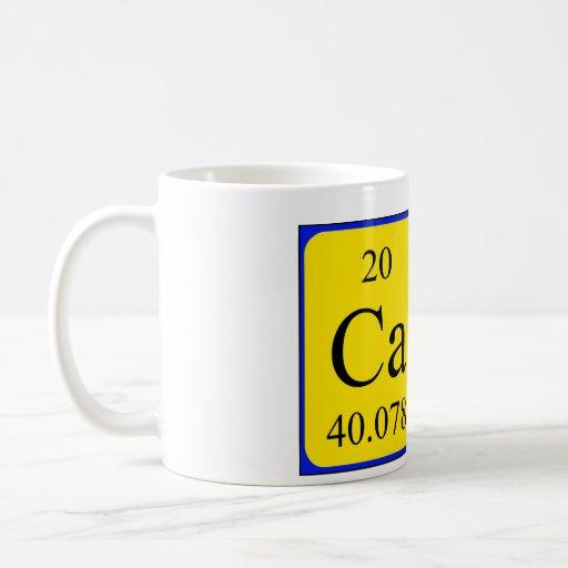 Taza del nombre de la tabla periódica de Cate