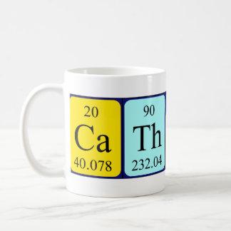 Taza del nombre de la tabla periódica de Catharine