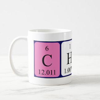 Taza del nombre de la tabla periódica de Chico