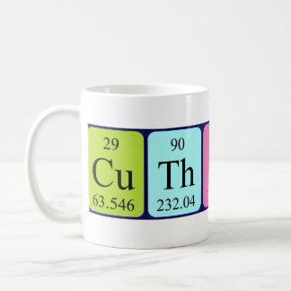 Taza del nombre de la tabla periódica de Cuthbert