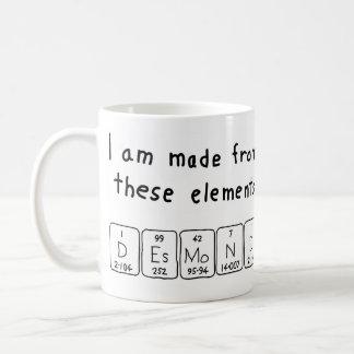 Taza del nombre de la tabla periódica de Desmond