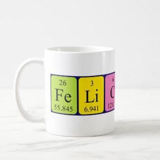Taza del nombre de la tabla periódica de Felicitas