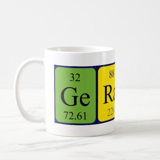 Taza del nombre de la tabla periódica de Geraint