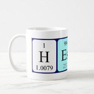 Taza del nombre de la tabla periódica de Hester