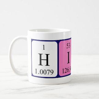Taza del nombre de la tabla periódica de Hinata