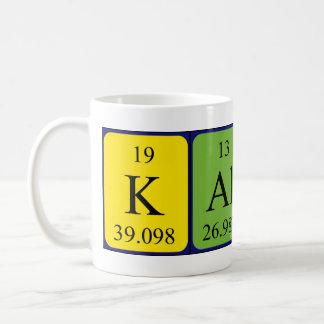 Taza del nombre de la tabla periódica de Kalyn