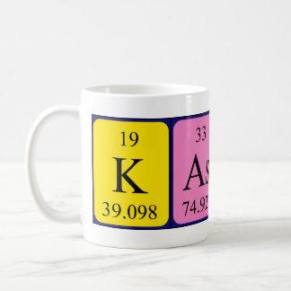 Taza del nombre de la tabla periódica de Kason