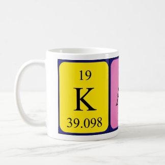 Taza del nombre de la tabla periódica de Kato