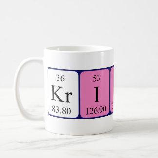 Taza del nombre de la tabla periódica de Kristin