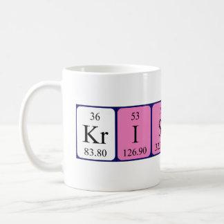 Taza del nombre de la tabla periódica de Kristine