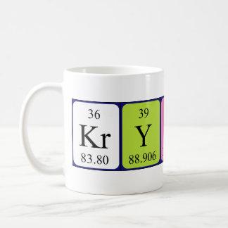 Taza del nombre de la tabla periódica de Krysten