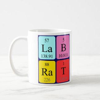 Taza del nombre de la tabla periódica de la rata d