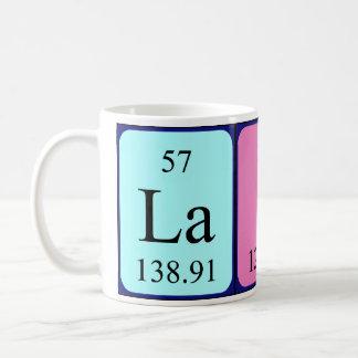 Taza del nombre de la tabla periódica de Laine