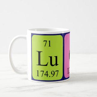 Taza del nombre de la tabla periódica de Lucca