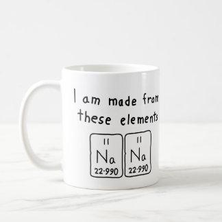 Taza del nombre de la tabla periódica de Nana