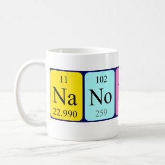 Taza del nombre de la tabla periódica de Nanotech
